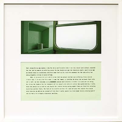 Vox in Camera 5, 2001-13, digital photograph & found text