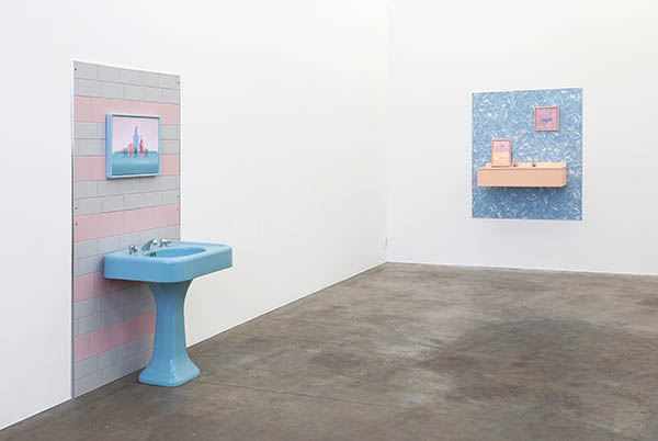 Buxom Blue and Sure & Natural Flesh Blush - installation view