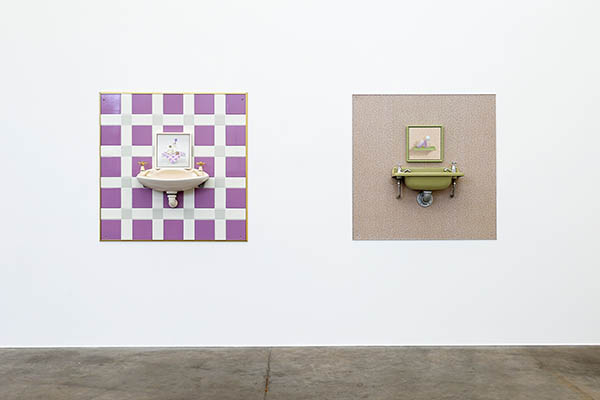 Perky Lavender and Tomboy Avocado - installation view