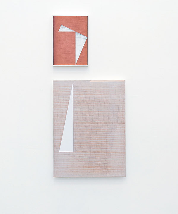 installation view - Cornering I and Siding