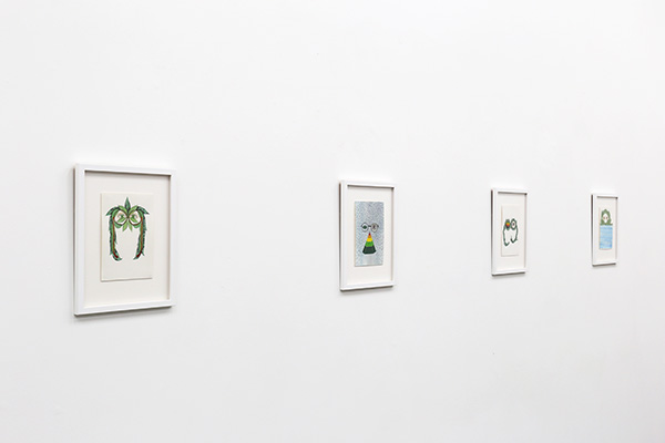 front gallery - installation view - watercolours
