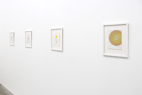back gallery - installation view - watercolours